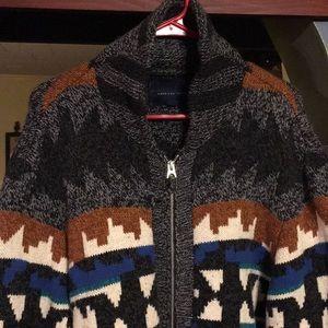 American Eagle Southwest zip cardigan XL